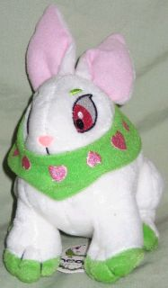 Green Cybunny Plushie (with velvet bag)