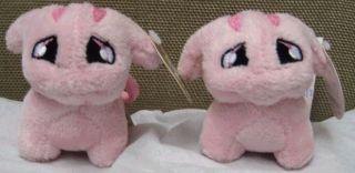 Pink Poogle Plushie Clip
