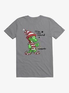 Christmas Krawk T-Shirt - Storm Grey