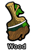 Woodland Paint Brush Pin