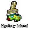 Mystery Island Paint Brush Pin
