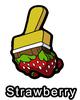 Strawberry Fields Forever Paint Brush Pin