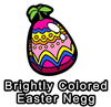 Brightly Colored Easter Negg Pin