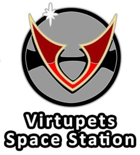 Altador Cup Virtupets Space Station Team Logo Pin