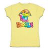 Rainbow Poogle Fitted T-Shirt
