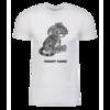 Grey Kougra Personalized Adult Short Sleeve T-Shirt