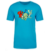 Trio Adult Short Sleeve T-Shirt in Turquoise