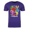 Collage Adult Short Sleeve T-Shirt in Purple