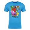 Collage Adult Short Sleeve T-Shirt in Turquoise