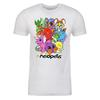 Collage Adult Short Sleeve T-Shirt in White