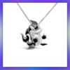 Large Silver and Black Rhodium Jetsam Necklace