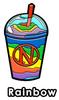 Rainbow Slushie Enamel Pin