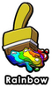 Rainbow Paint Brush Enamel Pin
