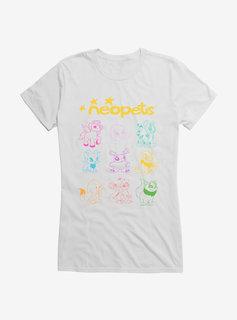 Line Art Girls T-Shirt - White