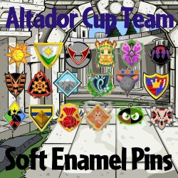 Altador Cup Teams Soft Enamel Pins