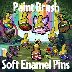 Paint Brush Soft Enamel Pins