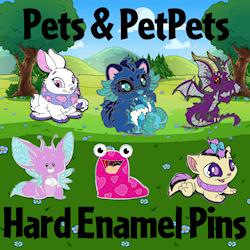 Pets and PetPets Hard Enamel Pins
