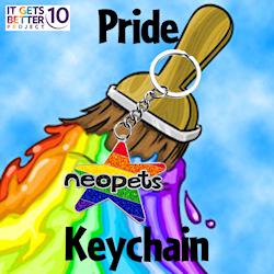 Neopets Pride Logo Keychain